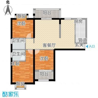 莲花尚院125.37㎡F户型3室2厅2卫1厨