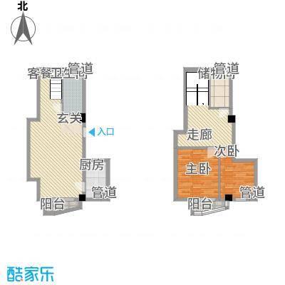 秦新悦蓝山55.13㎡F户型