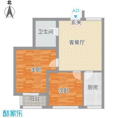 SR国际新城二期78.00㎡户型2室