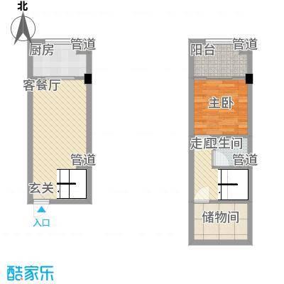 秦新悦蓝山33.38㎡D户型