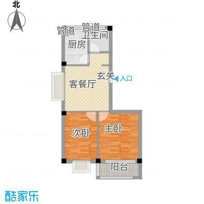 福里社区75.00㎡整体开发多层户型2室1厅1卫1厨