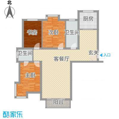SR国际新城二期131.00㎡户型3室