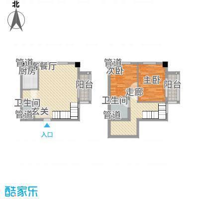 秦新悦蓝山54.30㎡H户型