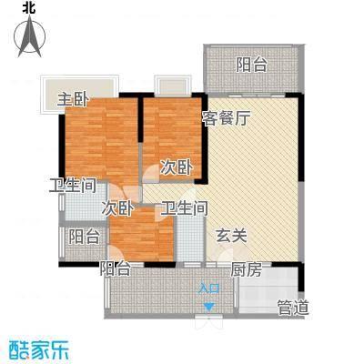 骏景豪庭155.72㎡1―3号楼A户型3室2厅2卫
