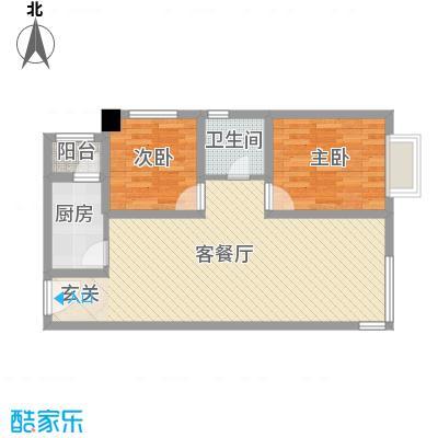 万通・熙悦华府83.00㎡一期F9户型2室2厅1卫1厨