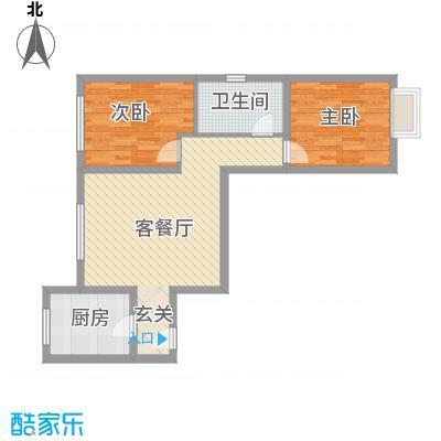 万通・熙悦华府85.00㎡一期H6户型2室2厅1卫1厨