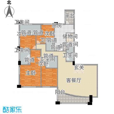 富国高银高层4号楼3-24层01户型