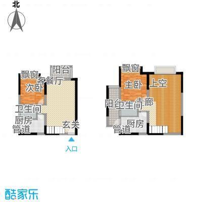 富康豪庭186.00㎡一期户型4室