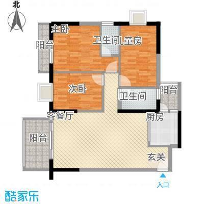 绿雅居户型3室
