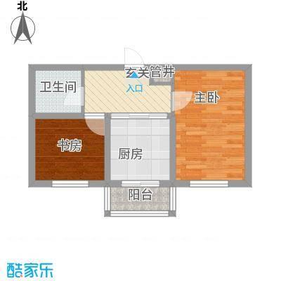 美韵星海53.11㎡二期D户型1室1厅1卫