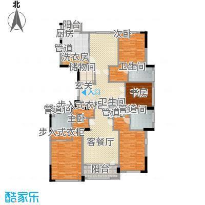 荣合公馆265.00㎡6#、9#楼标准层C户型4室3厅4卫1厨