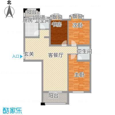 假日丽景133.00㎡户型3室