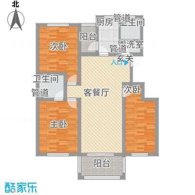假日丽景126.00㎡户型3室