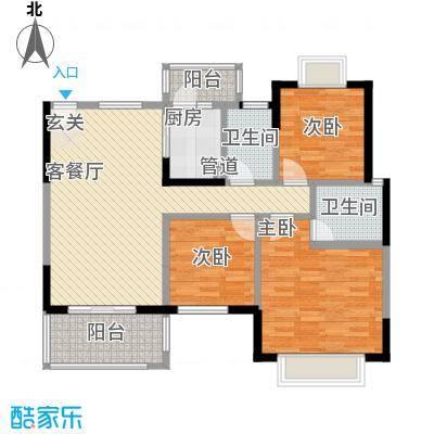 江滨花园五六期户型3室