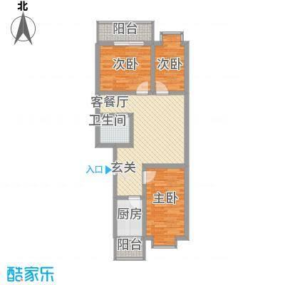 胜利新村85.00㎡户型3室