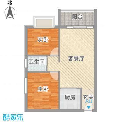 中铭君豪公寓72.41㎡豪仕阁A04、A07户型2室2厅1卫1厨