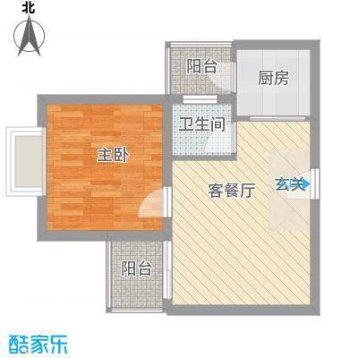 中铭君豪公寓46.46㎡铭仕阁A04、B04A05、B05A06、B06户型1室1厅1卫1厨