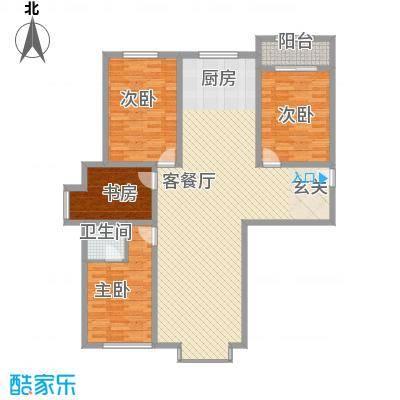 四环花园2户型3室2厅2卫1厨