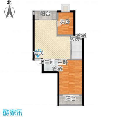 新天地购物城84.20㎡一期6、7、8号楼花样年华户型2室2厅1卫1厨
