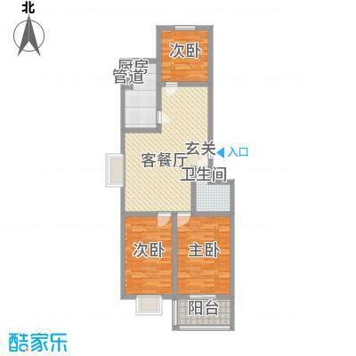 贵和苑社区15.00㎡户型3室2厅1卫1厨