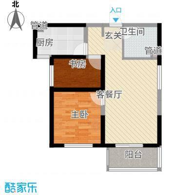 锦城小区一期户型2室1厅1卫1厨