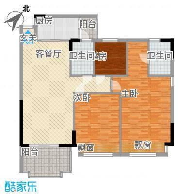 日华坊户型3室2厅2卫1厨