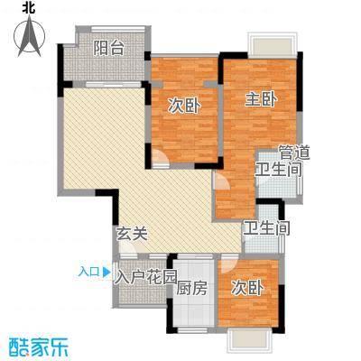 华宸金岸世家135.00㎡J户型3室2厅2卫
