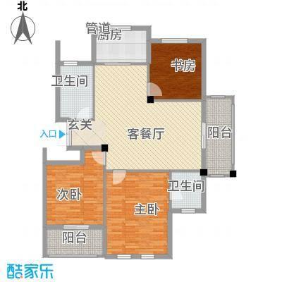 春晓源燕园136.54㎡高层9#-01户型3室2厅2卫1厨