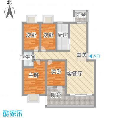 美丽家园122.00㎡户型4室2厅2卫1厨