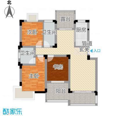 华宸金岸世家117.00㎡PA户型3室2厅2卫