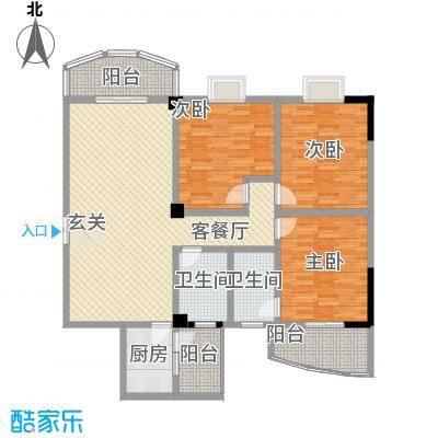 泰丰半岛悦城户型3室2厅2卫1厨
