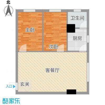 东鑫大厦8.00㎡户型2室