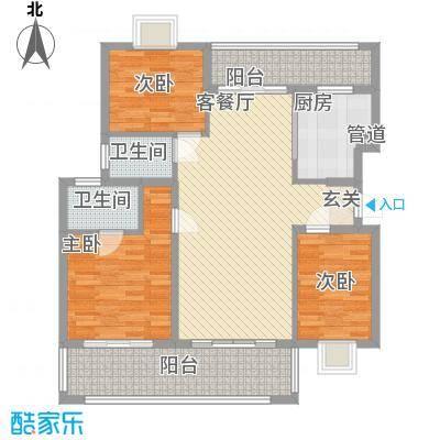 熊猫国际新城11.00㎡户型3室