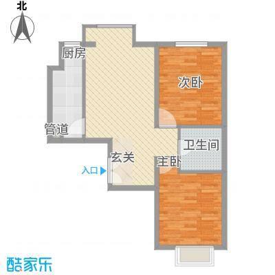 泰丰半岛悦城户型2室1厅1卫1厨