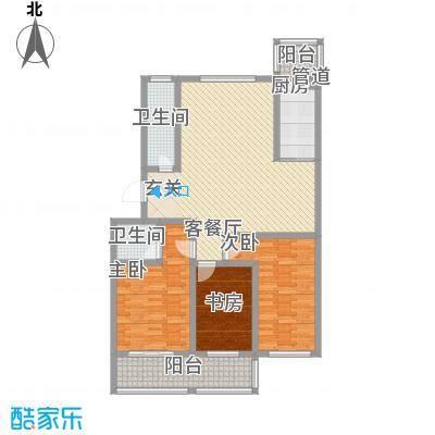天长嘉园141.00㎡户型3室