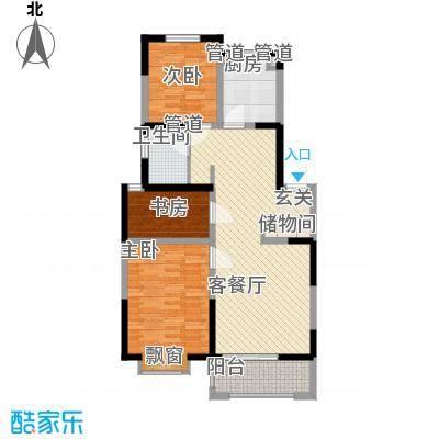 蓝月河谷第一期第三栋A户型2室2厅1卫1厨
