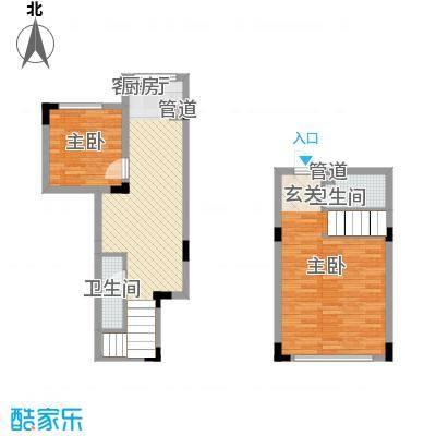 亿洲百旺郦城81.55㎡户型