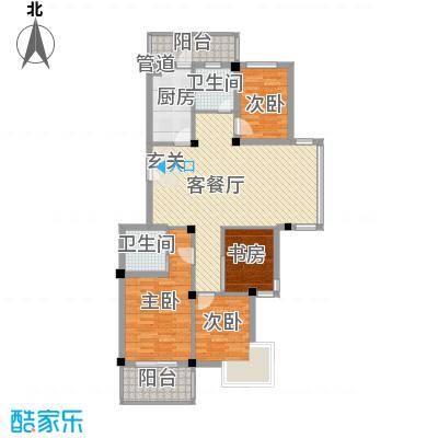 河风丽庭126.00㎡户型4室2厅2卫1厨