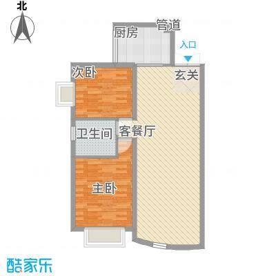 岭东路教师公寓户型2室2厅