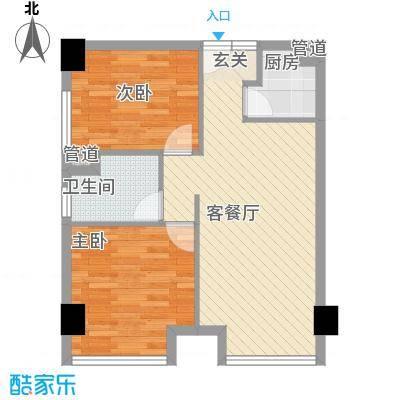金丰阳光户型2室2厅1卫1厨