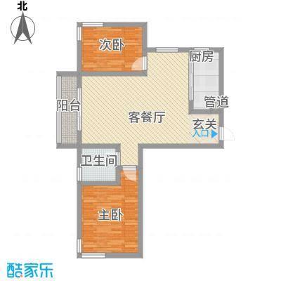 中齐他山3.00㎡2#3-204户型2室2厅1卫