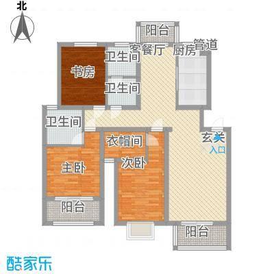 红豆花园13.00㎡G户型3室2厅2卫