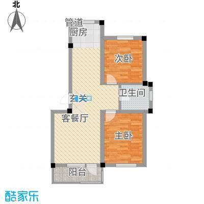 博维龙廷82.00㎡A户型2室2厅1卫