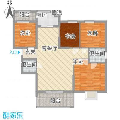 大家新城114.60㎡B3f户型4室2厅2卫1厨