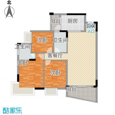 鸿业自由港5.00㎡户型2室