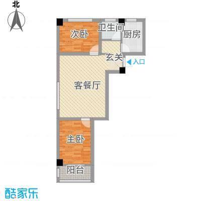 苏杭花园7.82㎡2#-A户型2室2厅1卫1厨
