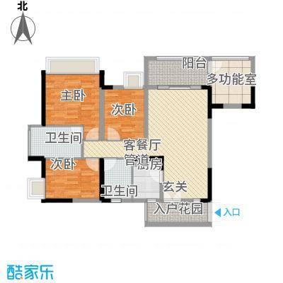 丽景花园户型3室