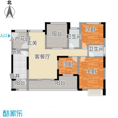 融科海阔天空二期二期13、14、15号楼E(标准层)户型