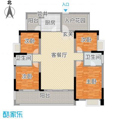 融科海阔天空二期二期13、14、15号楼G(标准层)户型