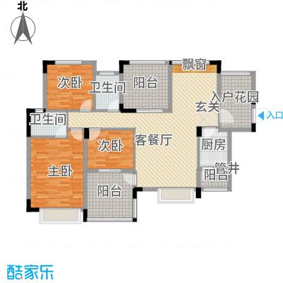 融科海阔天空二期二期13、14、15号楼F(标准层)户型